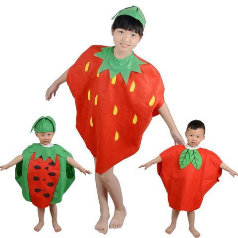 Disfraz de fresa para escolares