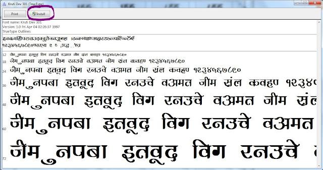 Hindi font download and install