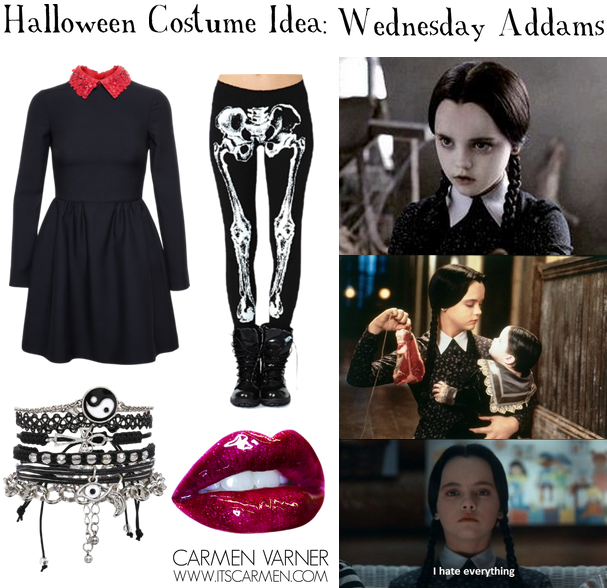 Halloween Costume Idea: Wednesday Addams / Carmen Varner ...