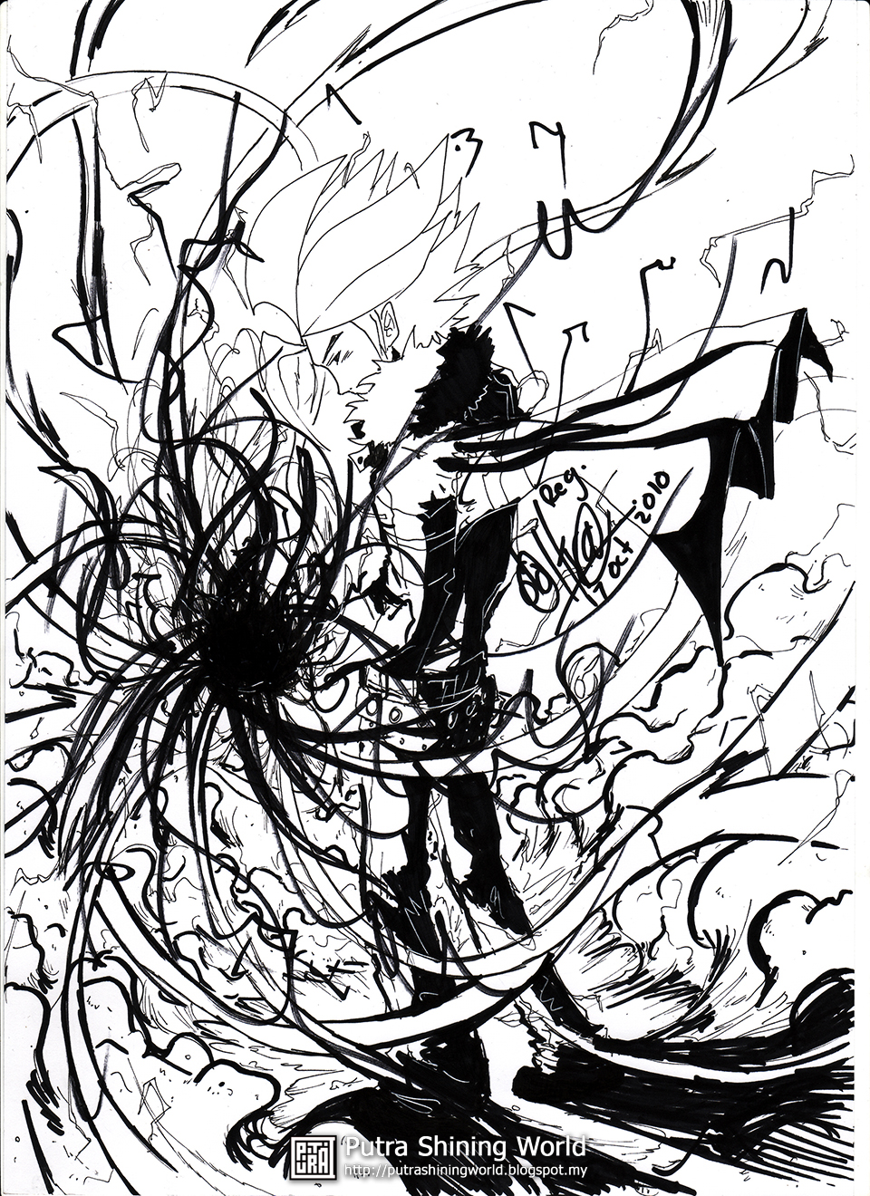 Drawing - Sketch - Black and White -  Comic - Fantasy by Putra Shining