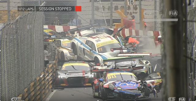 Απίστευτη καραμπόλα σε αγώνα FIA GT World Cup (βίντεο)