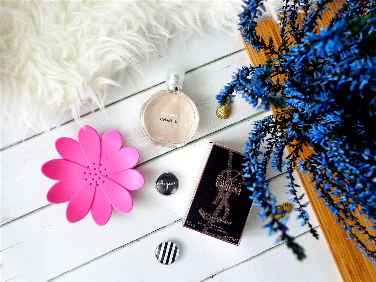 zdjęcie informujące o promocji w Rossmannie 1+1 na perfumy i zestawy świąteczne