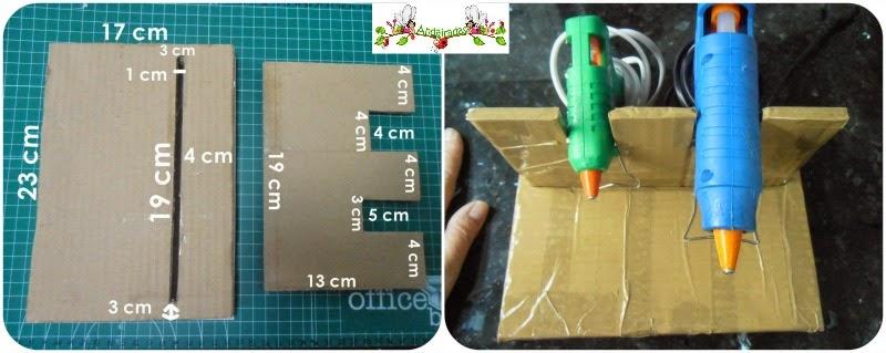 Medidas de soporte para pistola de silicona