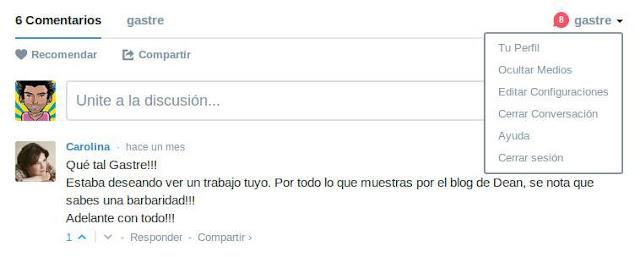 Comentarios disqus en spanish (Argentina)