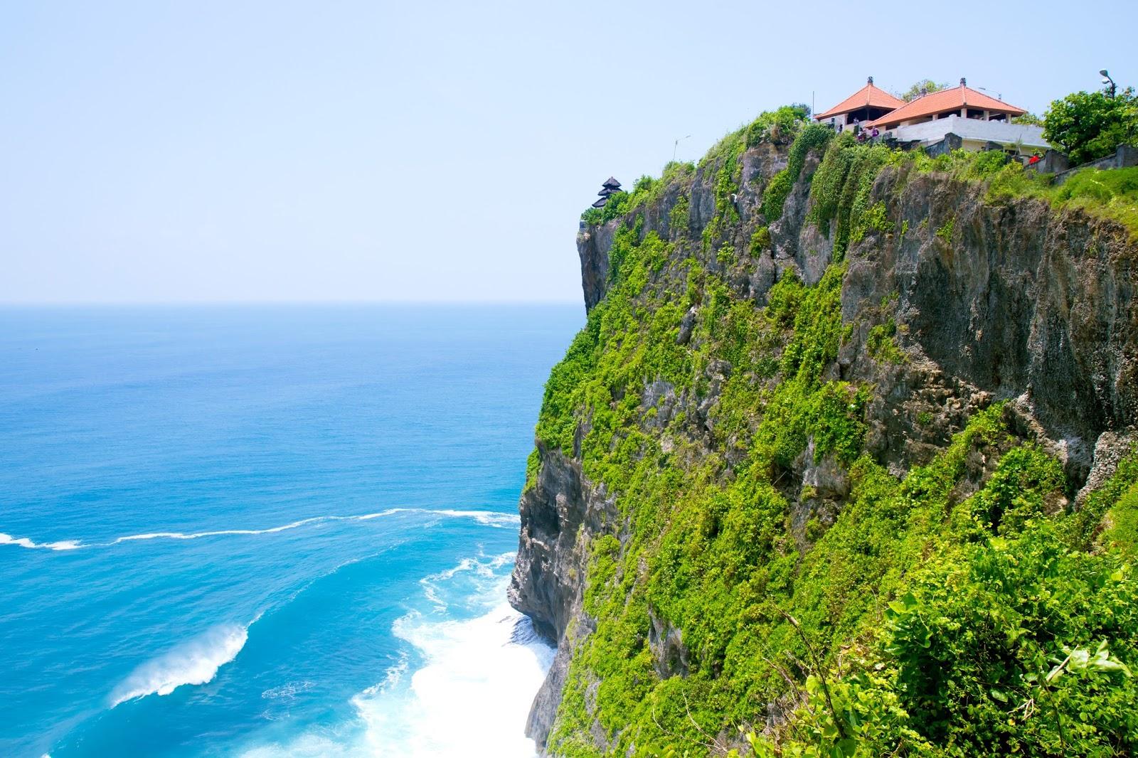 beautiful views at Uluwatu Temple in Bali, Indonesia