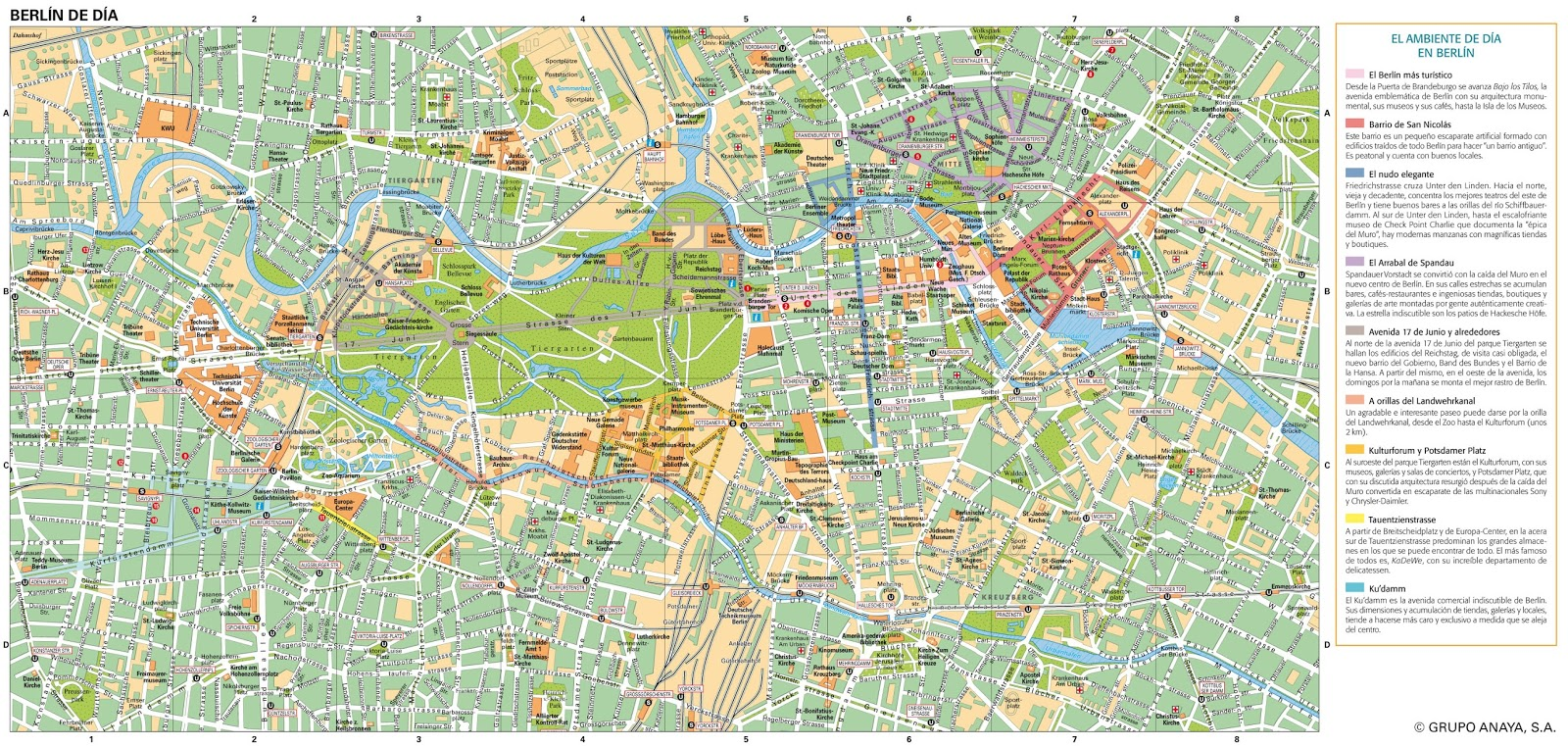 BERLIN - CRACOVIA 2016: PLANO DE BERLIN
