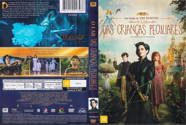 Capa DVD O Lar Das Crianças Peculiares