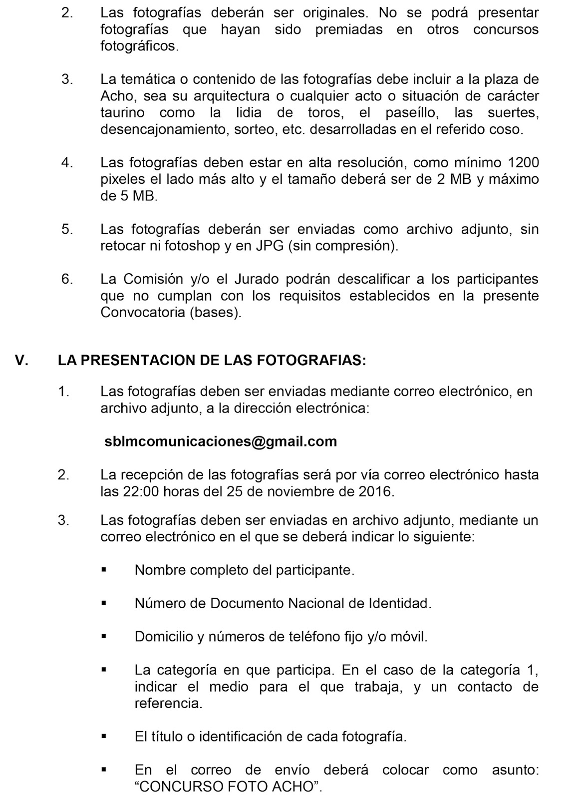 El taurino de lima convocatoria bases concurso de for Sep convocatoria plazas 2016