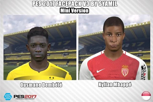 O. Dembele & K. Mbappe Faces PES 2017