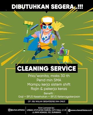 lowongan kerja cleaning sevice urban athletes surabaya
