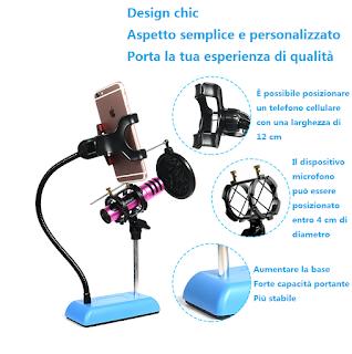 supporto da tavolo per microfono kh-40