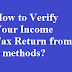 How to Verify Your Income Tax Return for AY 2018-19?