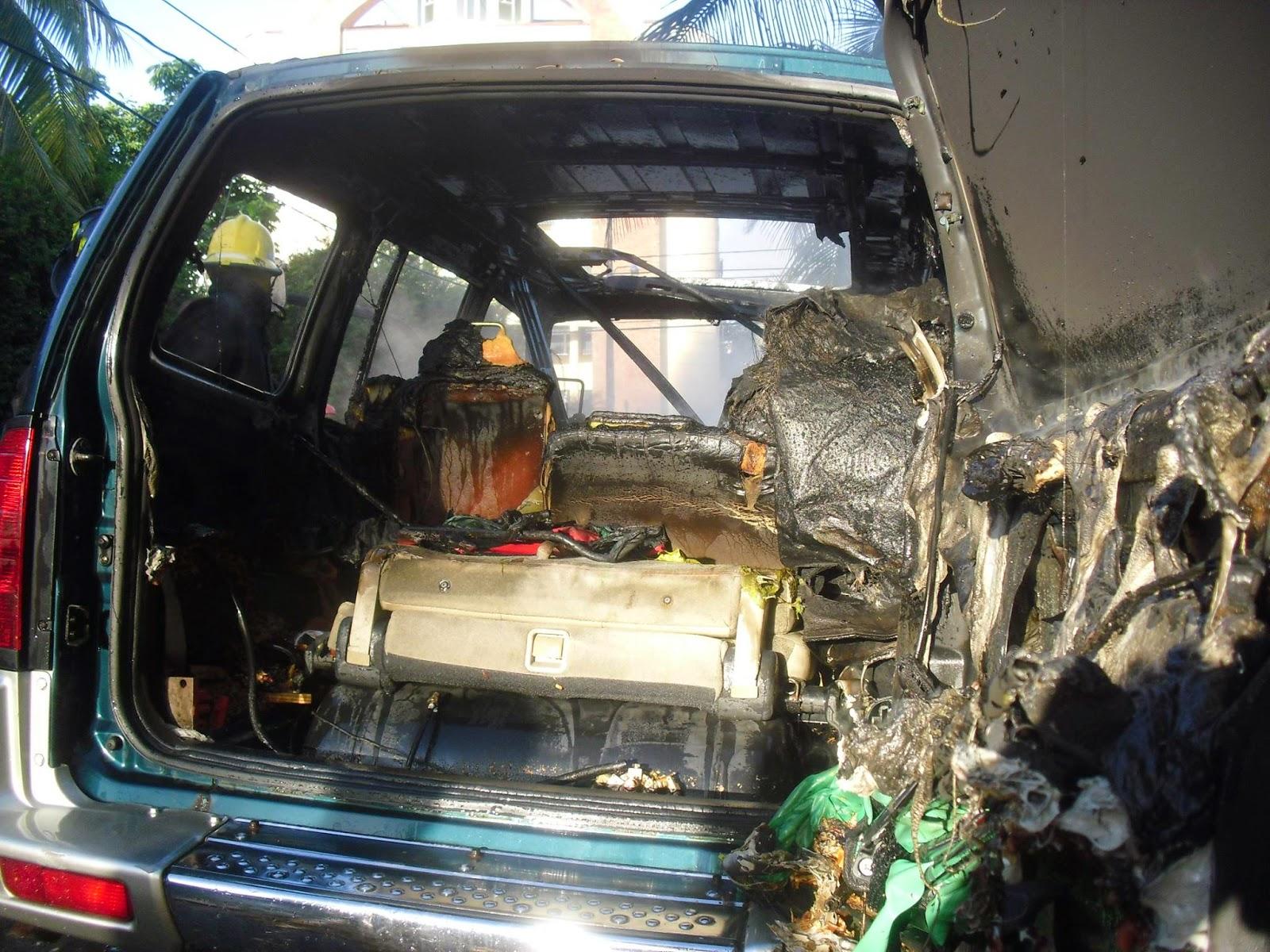 Se Incendia Yipeta Mitsubishi Montero Cara De Gato En La - Mitsubishi cara de gato