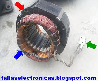 bobina de un compresor