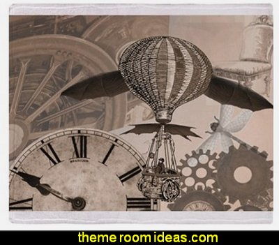 Steampunk collage 2 Throw Blanket