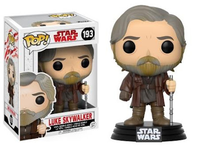 Funko Pop Luke Skywalker figurine next to box