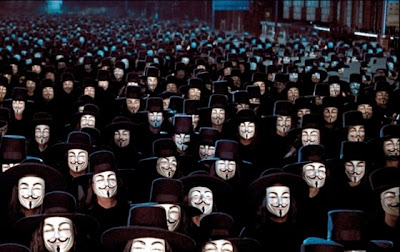 Guy Fawkes Masks Sequence, V for Vendetta, Directed by James McTeigue