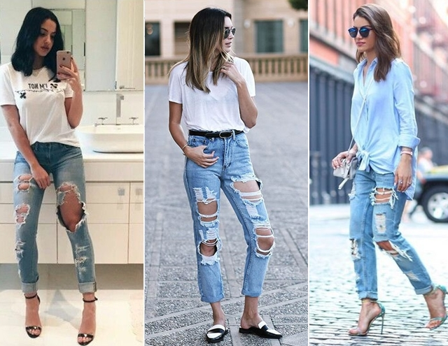 Tendências primavera verão 2018 - jeans rasgado