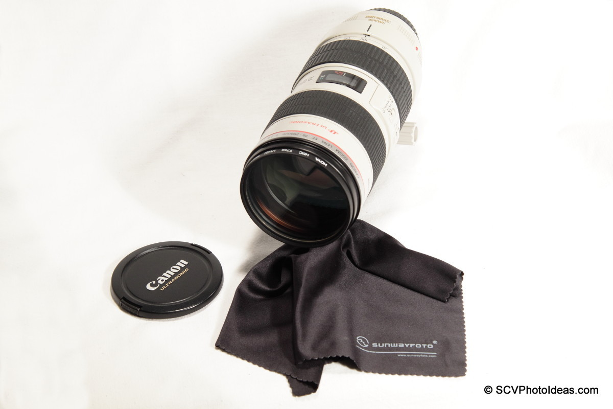 Sunwayfoto Lens Cleaning Cloth w/ Canon EF 70-200L IS USM