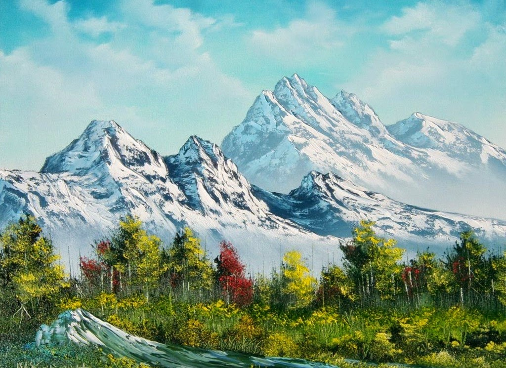 Wallpapers Montañas Nevadas: Imágenes Arte Pinturas: Cuadros Al óleo Con Paisajes De