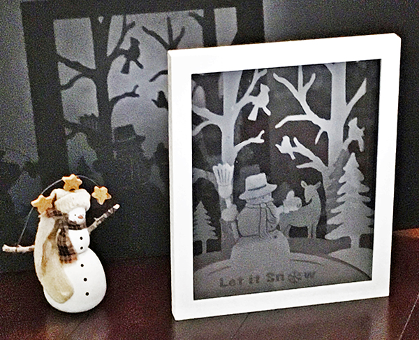 Life in the Craft Lane: Winter Wonderland - Etched Float Frame