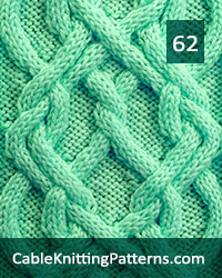 Cable Panel 62. -Free Pattern. Skill level: Advanced knitter and up