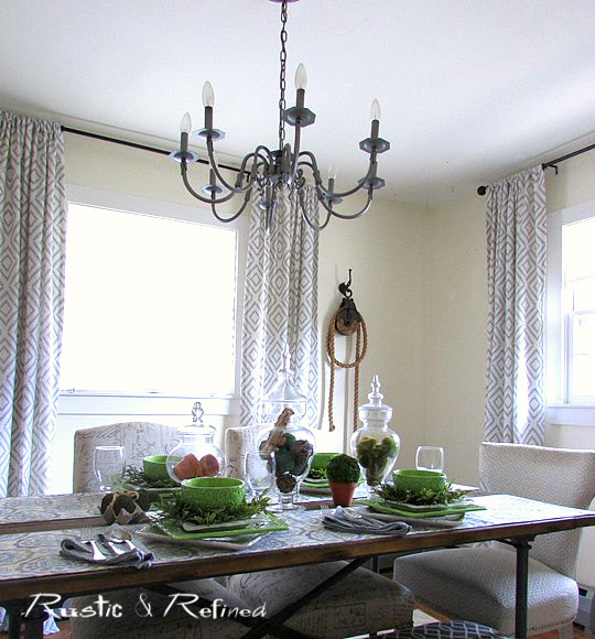 Decorating ideas for farmhouse style in dining room