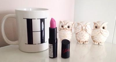 Rimmel 35 lipstick, bright barbie pink