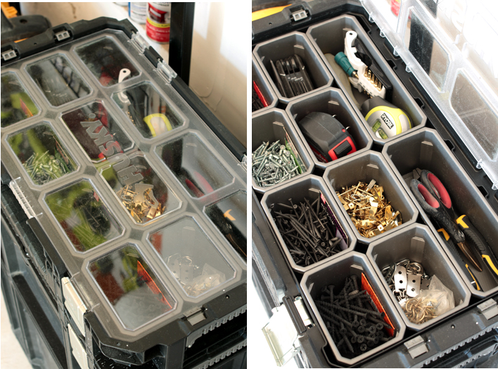 how to organize tools and supplies in the garage