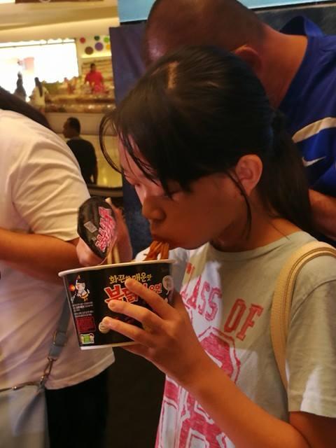 pertandingan cabaran Korean Spicy Noodle