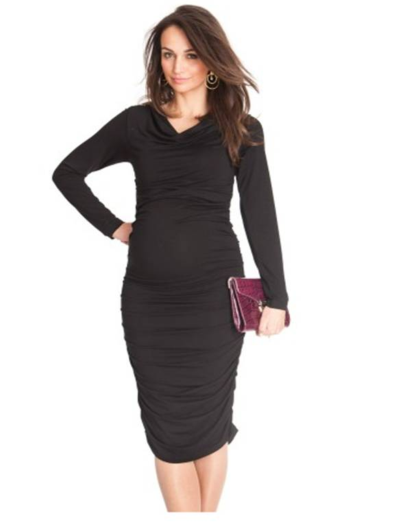 Seraphine's Black Maternity Shift Dress