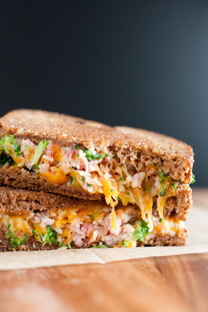 Delicious Broccoli Ham Grilled Cheese Sandwich Recipe #sandwich #sandwiches #grilled #cheese