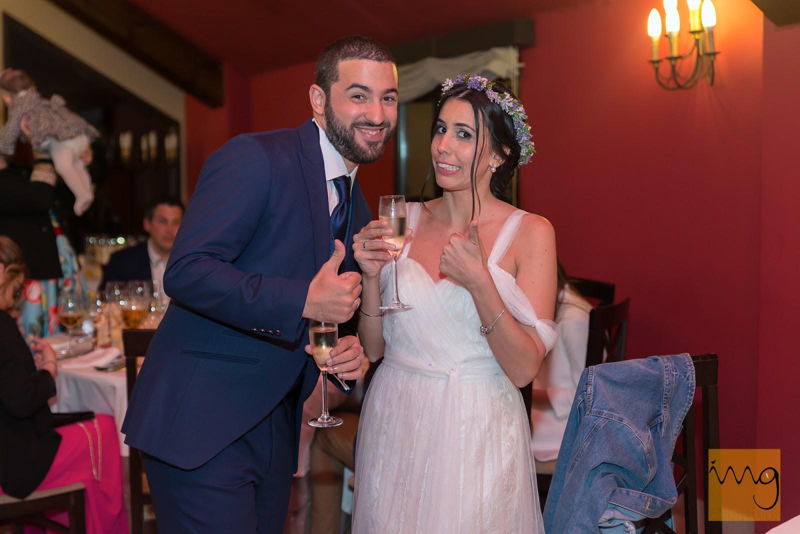 Fotografía distendida de boda