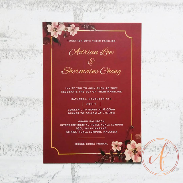 Modern Chinese Wedding Cards
