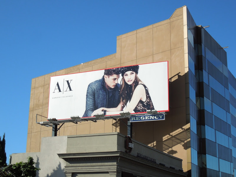 Armani Exchange Holidays 2012 billboard