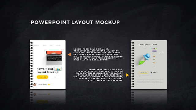 Infographic Spiral Book PowerPoint Mockup Template Slide 9