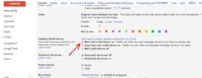 Google mail alerts on desktop