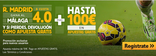 betfair Real Madrid gana Malaga cuota 4 liga 18 abril