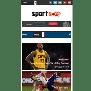 theme blog tin tức thể thao
