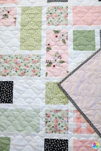 Grandstand quilt pattern by Andy of A Bright Corner  - quilting is Mist a longarm quilting design by Natalia Bonner
