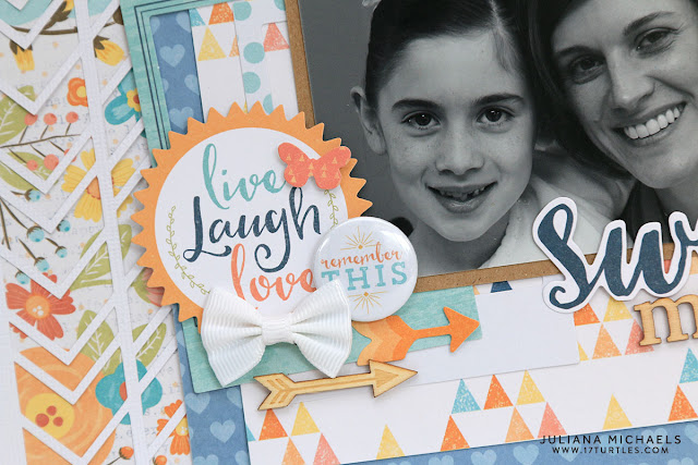 Sweet Memories Scrapbook Page by Juliana Michaels featuring 17turtles Chevron Background Free Digital Cut File and Cocoa Vanilla Studio Life Is Beautiful