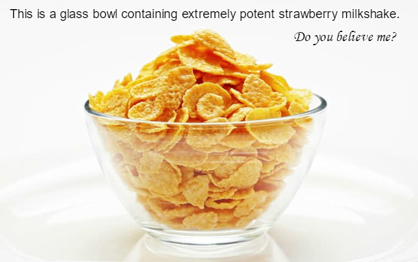 bowl of cornflakes homeopathy allegory