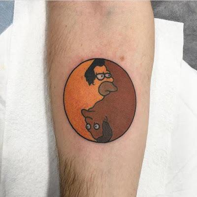 tatuaje ying y yang los simpson