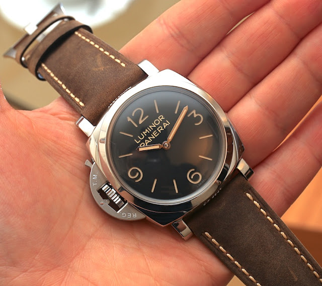 Panerai Luminor 1950 Left-heted 3 Days Acciaio Noir Dial hommes faux montre,sui...$107.10