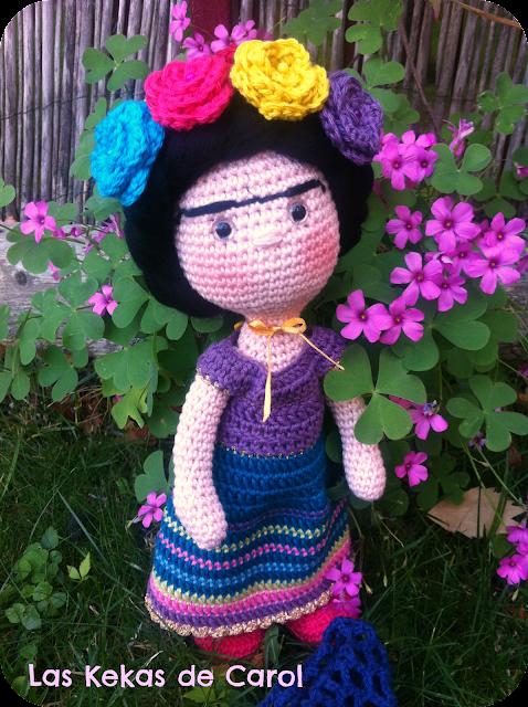Frida Kahlo a crochet. Las Kekas de Carol