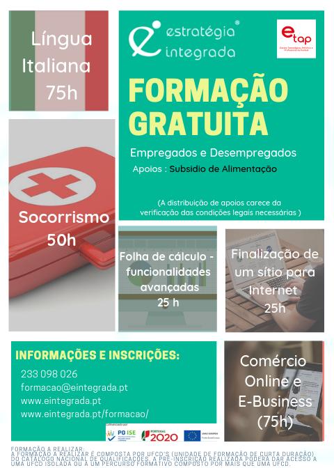 Ofertas de formação financiada em Coimbra para o ano de 2019