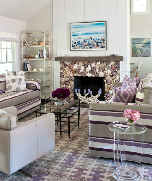 Purple Living Room Decor Inspired by the Coast | Shop the ...