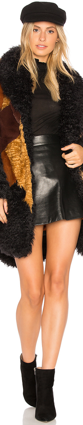 SOMEDAYS LOVIN Heavy Hearts Faux Fur Jacket