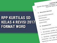 RPP Kurtilas SD Kelas 4 Revisi 2017 Format Word