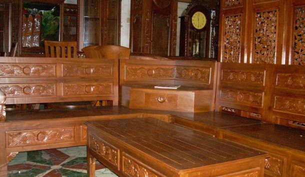 82 Koleksi Kursi Sofa Kayu Jati HD